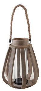 Aubry-Gaspard - lanterne de jardin en bois vieilli et verre - Lanterna Da Esterno