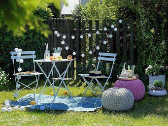 BELIANI - fiori - Tavolo Da Giardino Rotondo
