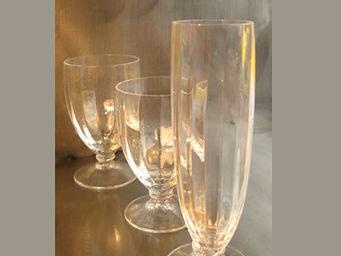 Lawrens - verres en cristal strillé - Servizio Di Bicchieri
