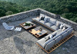 Royal Botania - mozaix lounge set - Divano Da Giardino