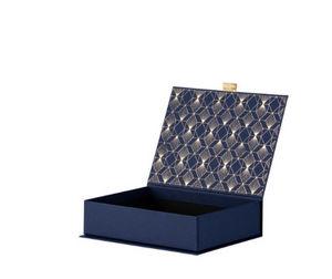 RÖSSLER PAPIER - klappbox m, art deco, blau - Scatola Sistematutto
