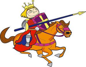 DECOLOOPIO - chevalier de la féerie - Adesivo Decorativo Bambino