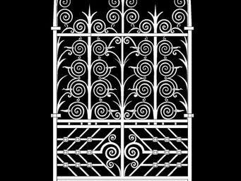 Archipedia - fer forgé grille - Porta Finestra A 2 Ante