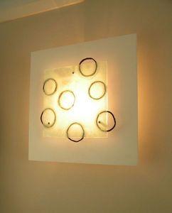 Design by Mika - sedna with hand made glass art - Lampada Da Ufficio
