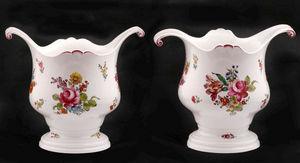 J.m. Bealu & Fils - paire de rafraîchissoirs en porcelaine d - Secchiello Termico Per Bottiglia