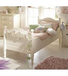 Poppy - handpainted solid wood children's bed - Lettino