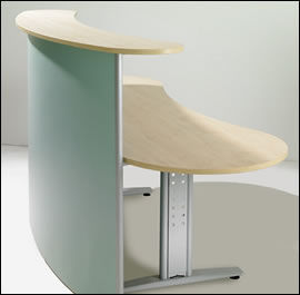 Blundell Harling Magpie - free standing curved reception desk - Banco Reception