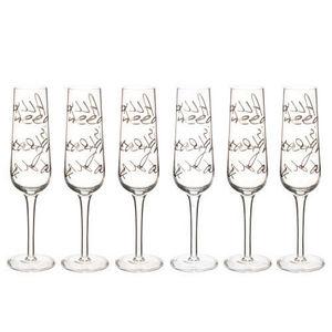 MAISONS DU MONDE - coffret 6 flûtes all you need - Flute Da Champagne