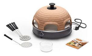 Food & Fun - pr 6.6 pizzarette stone 6 persons - Mini Forno Elettrico Per Pizza