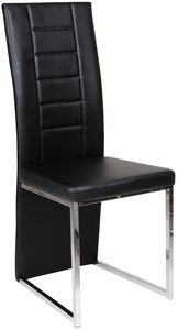 COMFORIUM - chaise de table simili cuir coloris noir - Sedia