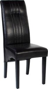 COMFORIUM - lot de 2 chaises en simili cuir coloris marron des - Sedia