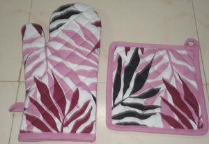 ITI  - Indian Textile Innovation - leafs - Guanto Da Forno