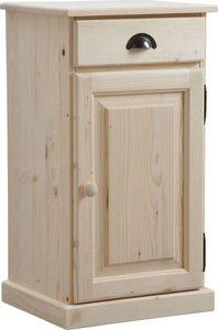 Aubry-Gaspard - confiturier en bois brut 1 tiroir 1 porte - Vasetto Da Marmellata