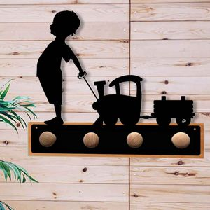 Generative-lab - portemanteau l'enfant et le train - Appendiabiti Da Terra