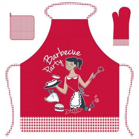 La Chaise Longue - Grembiule da cucina-La Chaise Longue-Tablier Femme Barbecue Party