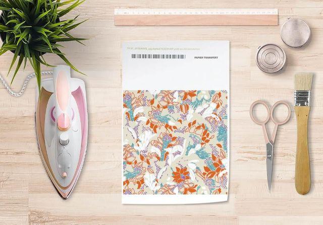la Magie dans l'Image - Trasferibile-la Magie dans l'Image-Papier transfert Tropical Flowers Nude