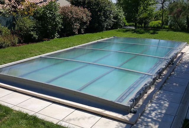 AZENCO GROUPE - Copertura bassa motorizzata per piscina-AZENCO GROUPE