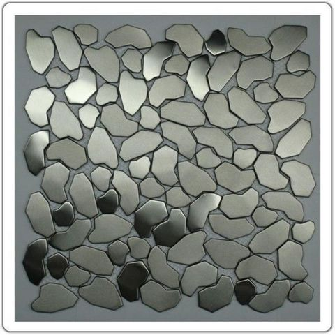 TOOSHOPPING - Piastrella a mosaico-TOOSHOPPING-Crédence Carrelage inox Mosaique Inox Galet